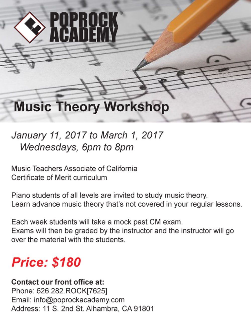 Music Theory Class in alhambra, CA