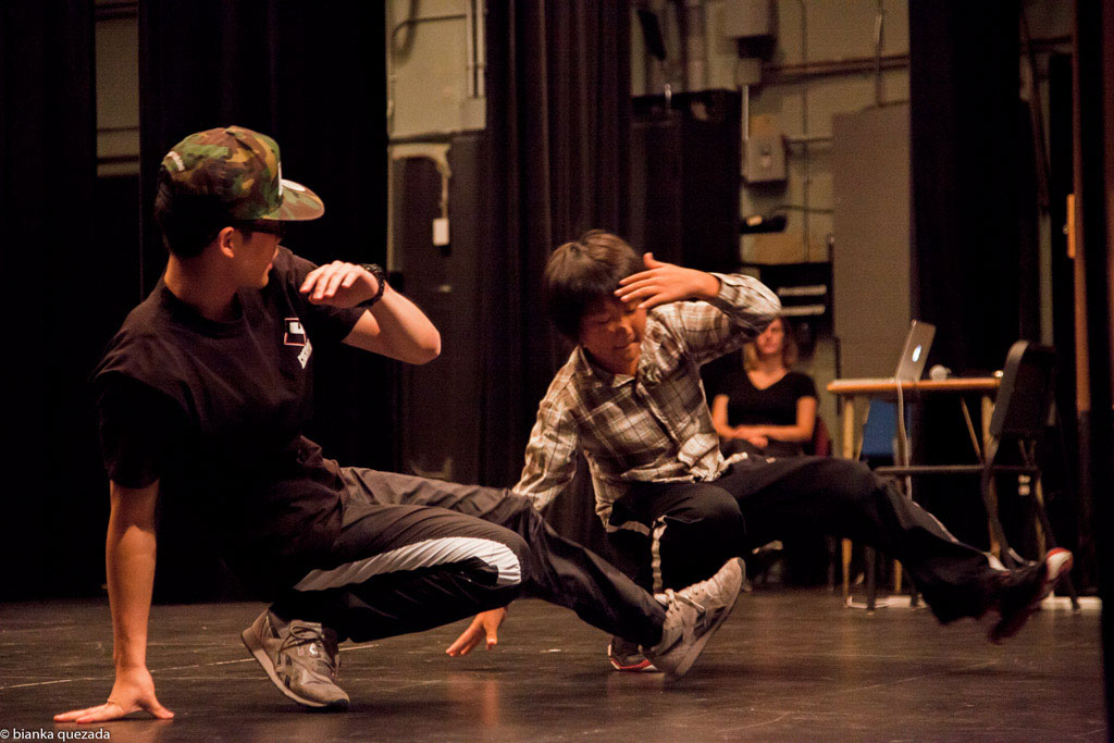Break Dancing Breaking B-boy in Alhambra